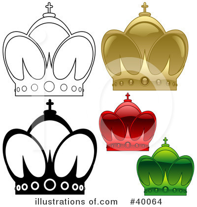 Royalty-Free (RF) Crown Clipart Illustration by dero - Stock Sample #40064