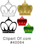Royalty-Free (RF) Crown Clipart Illustration #40064