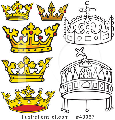 Royalty-Free (RF) Crown Clipart Illustration by dero - Stock Sample #40067