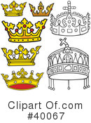 Royalty-Free (RF) Crown Clipart Illustration #40067