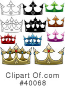 Royalty-Free (RF) Crown Clipart Illustration #40068