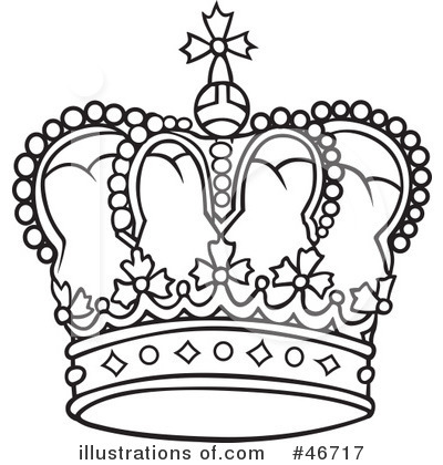 Royalty-Free (RF) Crown Clipart Illustration by dero - Stock Sample #46717