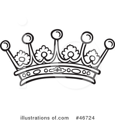 -Free (RF) Crown Clipart Illustration by dero - Stock Sample #46724