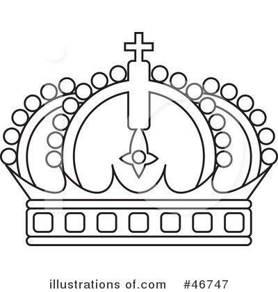 -Free (RF) Crown Clipart Illustration by dero - Stock Sample #46747