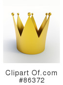 Royalty-Free (RF) Crown Clipart Illustration #86372