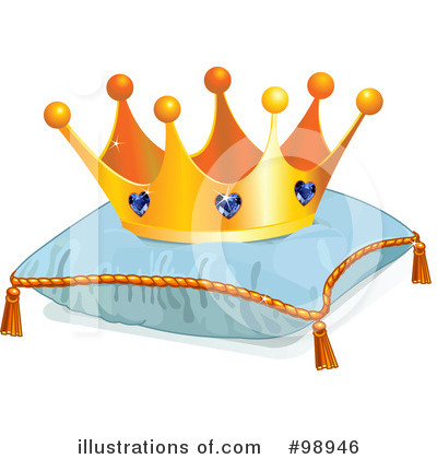 Royalty-Free (RF) Crown Clipart Illustration by Pushkin - Stock Sample #98946
