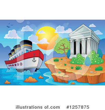 Cruise Ship Clipart #1257875 by visekart