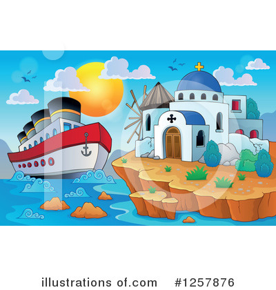 Cruise Ship Clipart #1257876 by visekart