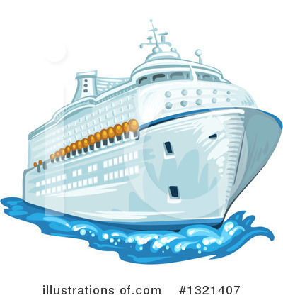 Cruise Ship Clipart #1321407 by merlinul