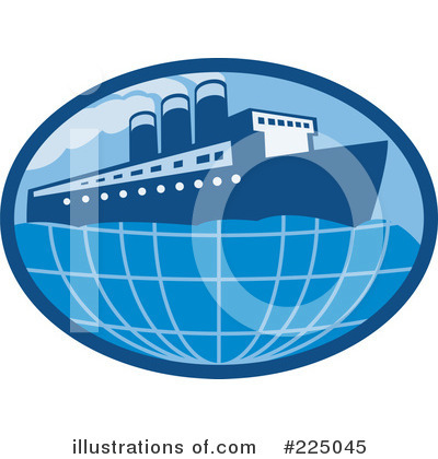 Cruise Ship Clipart #225045 by patrimonio