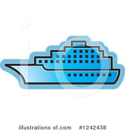 Cruise Ship Clipart #1242438 by Lal Perera