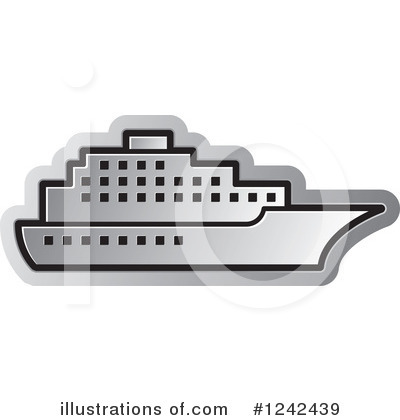 Cruise Ship Clipart #1242439 by Lal Perera