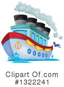 Royalty-Free (RF) Cruise Ship Clipart Illustration #1322241