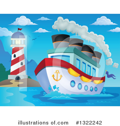 Cruise Ship Clipart #1322242 by visekart