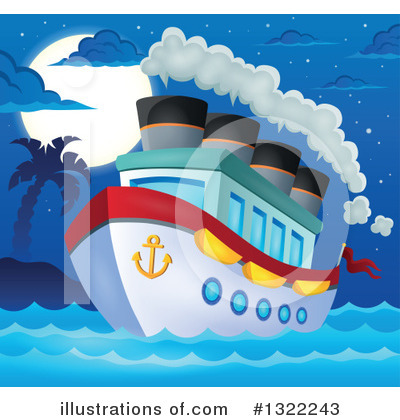 Cruise Ship Clipart #1322243 by visekart