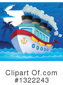 Royalty-Free (RF) Cruise Ship Clipart Illustration #1322243