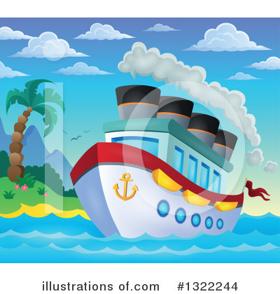 Cruise Ship Clipart #1322244 by visekart