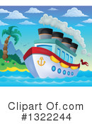 Royalty-Free (RF) Cruise Ship Clipart Illustration #1322244