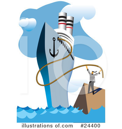 Cruise Ship Clipart #24400 by Eugene