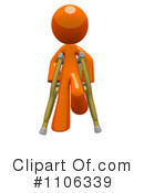 Royalty-Free (RF) Crutches Clipart Illustration #1106339