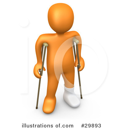 More Clip Art Illustrations of Crutches