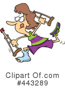 Crutches Clipart #443289 by toonaday