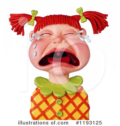 Royalty-Free (RF) Crying Clipart Illustration by Amy Vangsgard - Stock Sample #1193125