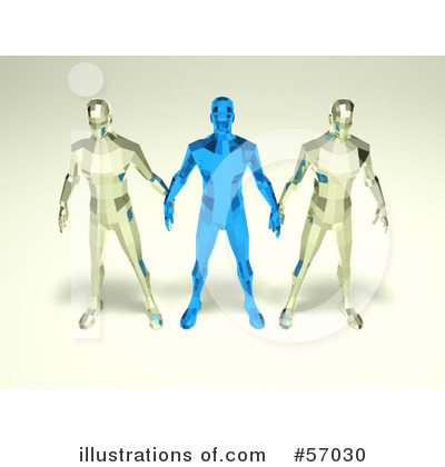 Crystal Man Character Clipart #57030 by Julos