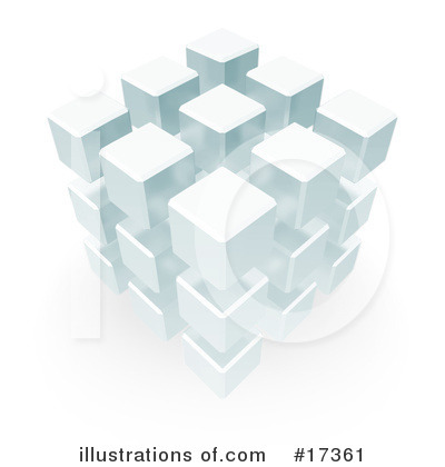 Royalty-Free (RF) Cube Clipart Illustration by Leo Blanchette - Stock Sample #17361