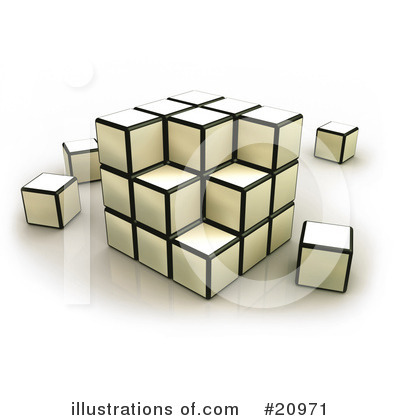 Cubes Clipart #20971 by 3poD