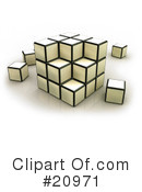 Royalty-Free (RF) Cube Clipart Illustration #20971