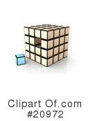 Royalty-Free (RF) Cube Clipart Illustration #20972
