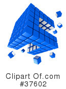 Royalty-Free (RF) Cube Clipart Illustration #37602