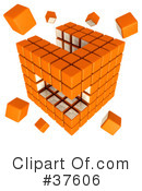 Royalty-Free (RF) Cube Clipart Illustration #37606