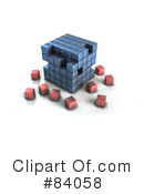 Royalty-Free (RF) Cube Clipart Illustration #84058