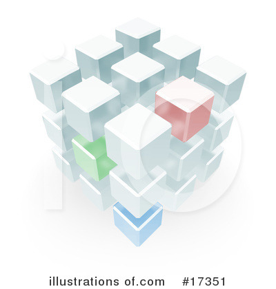 Royalty-Free (RF) Cubes Clipart Illustration by Leo Blanchette - Stock Sample #17351
