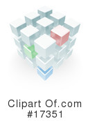 Royalty-Free (RF) Cubes Clipart Illustration #17351