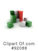 Royalty-Free (RF) Cubes Clipart Illustration #92088