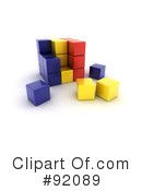 Royalty-Free (RF) Cubes Clipart Illustration #92089