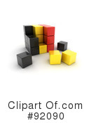 Royalty-Free (RF) Cubes Clipart Illustration #92090