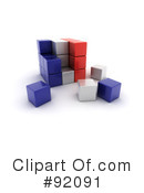 Royalty-Free (RF) Cubes Clipart Illustration #92091