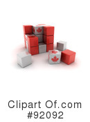 Royalty-Free (RF) Cubes Clipart Illustration #92092