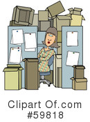 Cubicle Clipart #59818 by djart
