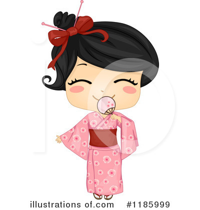 Geisha Clipart #1185999 by BNP Design Studio