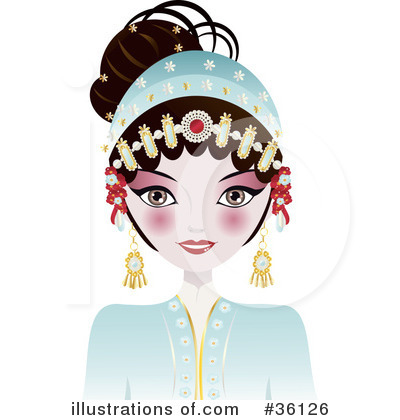 Geisha Clipart #36126 by Melisende Vector