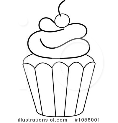 Free Vector Birthday on Royalty Free  Rf  Cupcake Clipart Illustration By Pams Clipart   Stock