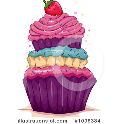 Cupcakes Clipart #1096334 by BNP Design Studio