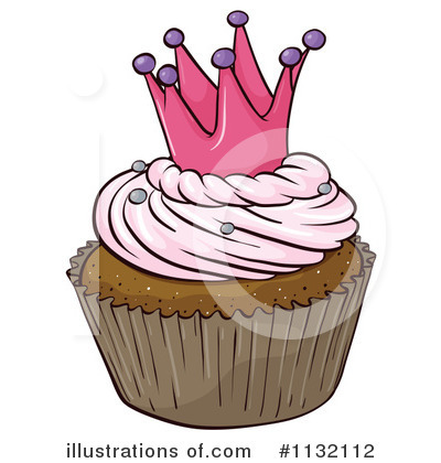 Royalty-Free (RF) Cupcake Clipart Illustration by Graphics RF - Stock Sample #1132112