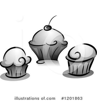 Cupcakes Clipart #1201863 by BNP Design Studio