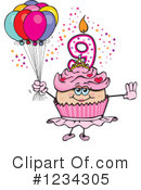 Cupcake Clipart #1234305 by Dennis Holmes Designs
